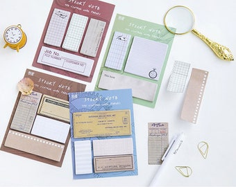 Small Vintage Paper Sticky Notes - Planner, Journal, Craft, Scrapbooking, Decoration