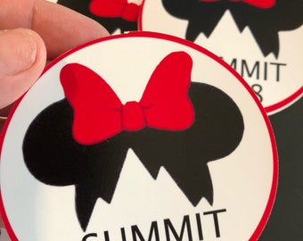 Cheerleading Summitt 2018 Stickers Summit Cheer Gifts Custom to your team and team colors