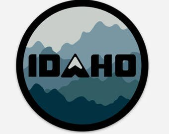 Idaho Mountain Camo - Round - Sticker/Decal