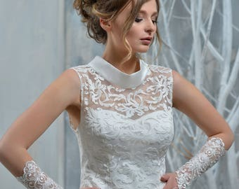 Handmade Wedding Gloves fron NYC Bride, made in Europe