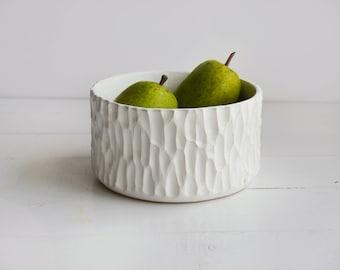 Ceramic bowl, fruit bowl,white bowl, ceramic bowl, snack bowl, table decoration,