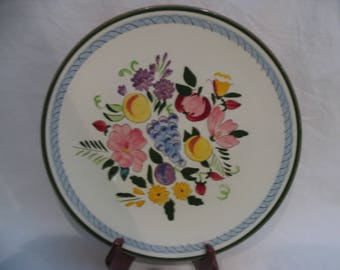 """Stangl Fruit and Flowers Platter 14"""" Chop Plate Large Plate"""