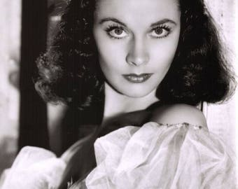 Vivien Leigh Film Actress Glossy Hollywood Black & White Photo Picture Print A4