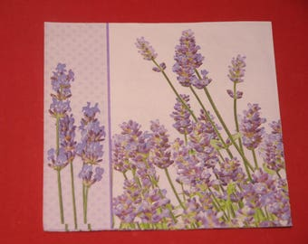 "napkin theme ""strands of lavender"" flowers"""