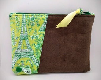 BI-material suede pouch and cotton