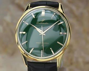 Seiko Seikomatic Rare 1960s Automatic 20 Jewels Gold Plate 37mm Dress Watch EE22