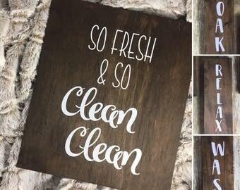 Bathroom Wood Sign Decor