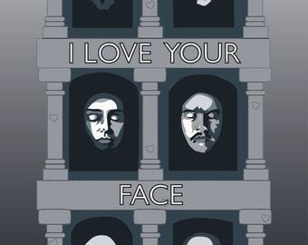 I Love Your Face Valentine's Card