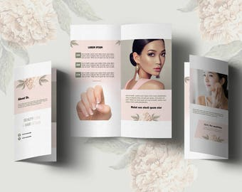 Salon Brochure Etsy - Hair salon brochure templates