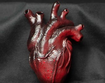 Red Heart Sculpture