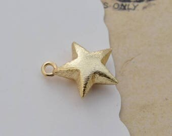 5 of 14k gf star charm pendant 15*15mm XTH