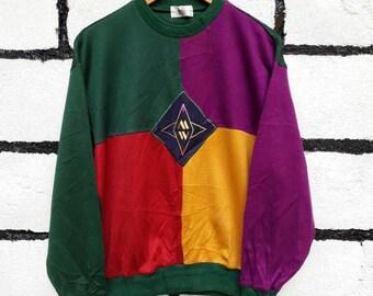 Grand Slam Munsingwear Sweatshirt Colors Block Nice Design