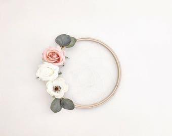 """Spring Floral Dream Catcher / boho wreath - 8"""""""