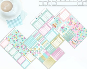 Happy Birthday - Weekly Kit Stickers for Erin Condren Vertical LifePlanner