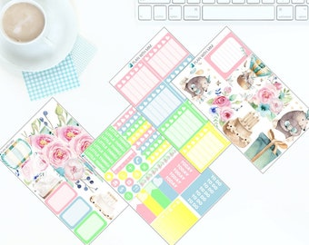 Birthday Party Pastels - Weekly Kit Stickers for Erin Condren Vertical LifePlanner