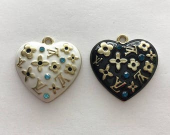 Alloy heart charm