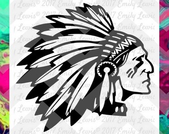 Indian mascot svgs - Indian svgs - mascot svgs - mascot svg files - Indian svg files - Indian cut files - mascot cut files - cricut - cameo