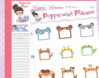 Animal message planner stickers #401