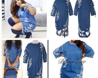 Denim Plus Size Jeanie Dress