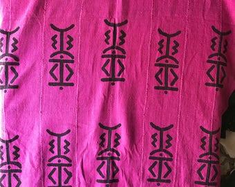 Pink Mudcloth