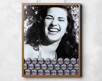 Art Print: Grape Bottle Cap Poster