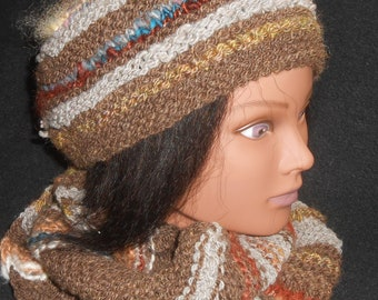 Hat and Cowl - multi colored