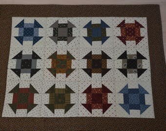 Wall Quilt or Table Topper - Tool Box Pattern