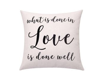 Valentines pillow covers Letters throw pillow covers Quote decorative pillow case Words cushion cover Valentines gift Sofa home decor 18x18