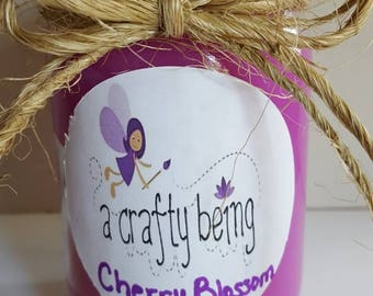 Cherry Blossom 16 oz hand poured container candle