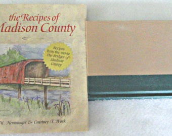 Bridges of Madison County Book and Cookbook Set•Novel Set•Cookbook Set•Movie Memorabilia•Mid-West Cooking•Robert Kincaid•Francesca Johnson