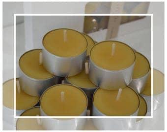 X-Large Pure Organic Australian Beeswax Tealight Candles (Tealights)