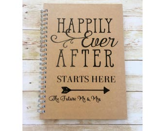 personalised wedding notebook engagement gift happily ever after starts here