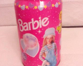 Vintage Lollipops Barbie Chupa Chups Tin Can (Empty )
