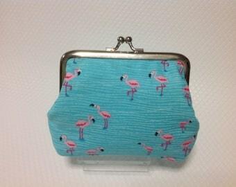 Handmade flamingo purse