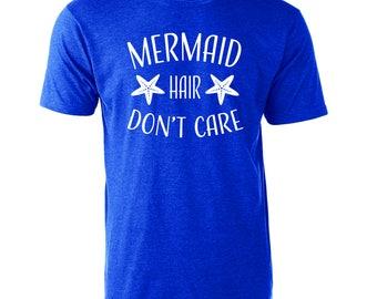 Mermaid Hair Don't Care T-Shirt Graphic Vacation Beach