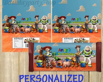 Toy Story Candy Wrappers, Toy Story Chocolate Wrappers, PERSONALIZED, Digital File