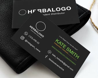 Herbalife Business Cards, Free Fast Personalization, Approved Colors&Fonts, Digital Template Design, For Health Coach And Distributor