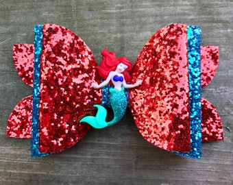 Under The Sea Sparkle- Little Girls Hair Bow!