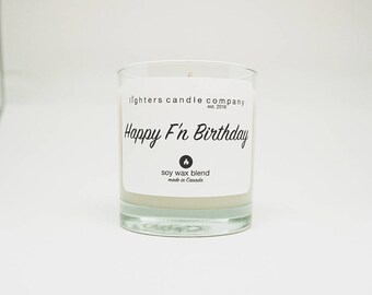 Happy F'n Birthday Soy Candle, Funny Candles