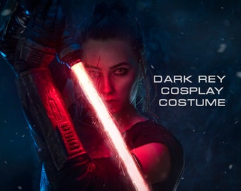 Star Wars Sith Dark Rey Cosplay Costume with Armor