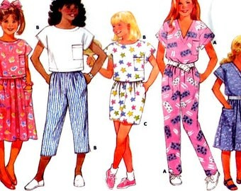 Butterick 4887, Children's Tops, Skirt, Shorts, Capris, and Pants Sewing Pattern, Sizes 4 5 6, Vintage 1987, UNCUT