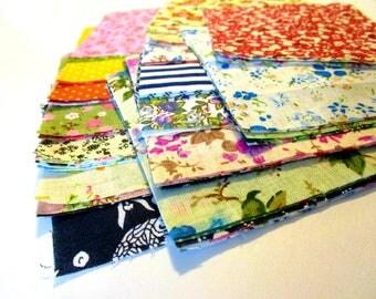 50 Patchwork Fabric Squares | Quilting Squares | Fabric Bundle | Cotton Fabric | Quilt Fabric | Quilting Fabric | Quilting Panels | Scraps