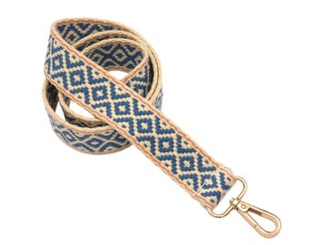 -Stylish crossover shoulder strap with diamond pattern - BOHO bag strap strap - unique accessories for all ladies bags