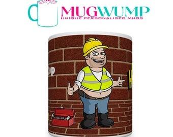 40th Birthday Builder Mug. Mug for Builder. 40th Birthday Mug. Plumbers Mug. Electrician Mug. Brickies Mug. Mug For Brickie. Builders Mugs.