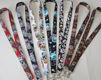 Lanyards Sugar Skulls (Your Choice)