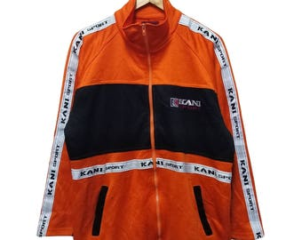 Hot Sale!!! Rare Vintage 90s KANI SPORT TAPE Embroidery Big Logo Multicolor Sweater Hip Hop Skate Swag Large Size