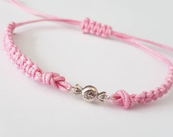 Candy braided stack bracelets