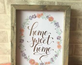Reclaimed Wood Framed Print