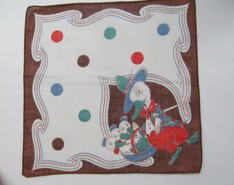 TOM LAMB DESIGN Childs Hanky ca 1950s