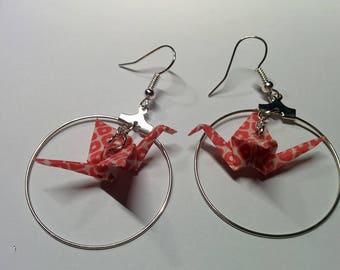 """""""Birds in flight"""" earrings in hoop (G_019)"""